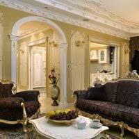 вариант яркого дизайна гостиной 19-20 кв.м картинка