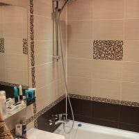 пример яркого интерьера ванной комнаты в бежевом цвете фото