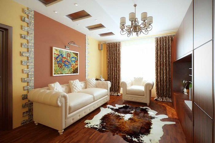 пример светлого декора современной квартиры 50 кв.м