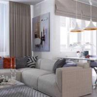 вариант яркого дизайна современной квартиры 65 кв.м картинка