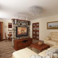 вариант красивого декора современной квартиры 50 кв.м картинка