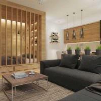 пример необычного дизайна квартиры 50 кв.м фото