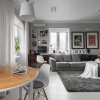 вариант необычного интерьера гостиной 25 кв.м фото