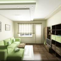 пример яркого дизайна гостиной комнаты 16 кв.м картинка