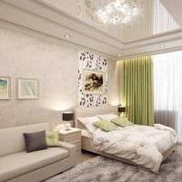 вариант светлого интерьера гостиной комнаты 19-20 кв.м картинка