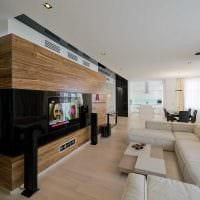 пример яркого декора гостиной в стиле минимализм картинка
