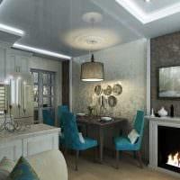 вариант красивого дизайна современной квартиры 65 кв.м фото