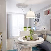 вариант красивого дизайна гостиной комнаты 25 кв.м фото