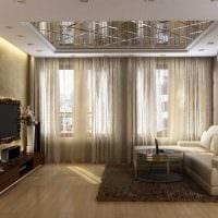 пример красивого декора гостиной с эркером фото