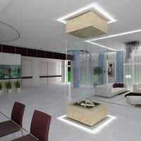 пример необычного интерьера гостиной в стиле минимализм фото
