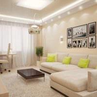 вариант необычного дизайна гостиной комнаты 19-20 кв.м картинка