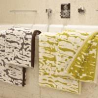 пример светлого дизайна ванной в бежевом цвете фото