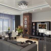 пример светлого интерьера гостиной комнаты с эркером картинка