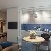вариант светлого декора современной квартиры 50 кв.м картинка