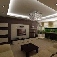 пример яркого дизайна гостиной 25 кв.м фото
