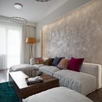 вариант красивого стиля гостиной комнаты 16 кв.м фото