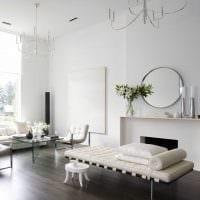 пример красивого интерьера гостиной комнаты в стиле минимализм картинка