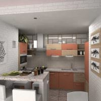 вариант яркого интерьера квартиры 50 кв.м картинка