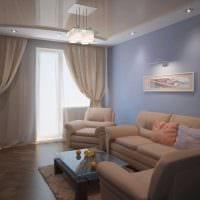 вариант красивого стиля гостиной комнаты 25 кв.м фото