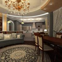 пример яркого дизайна гостиной 25 кв.м картинка