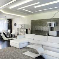 вариант светлого декора гостиной в стиле минимализм фото