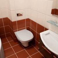 пример светлого стиля ванной 5 кв.м фото