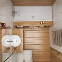 пример красивого дизайна ванной комнаты 5 кв.м картинка