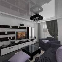 вариант светлого интерьера гостиной комнаты 25 кв.м фото