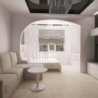 вариант необычного дизайна гостиной комнаты 19-20 кв.м фото