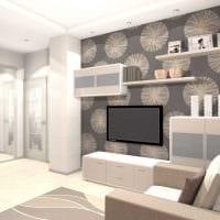 пример красивого интерьера современной квартиры 65 кв.м картинка