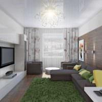 пример яркого интерьера гостиной комнаты 2018 фото