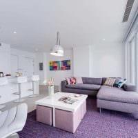 пример светлого интерьера гостиной в стиле минимализм фото