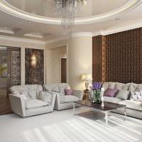 вариант красивого дизайна гостиной в стиле минимализм фото