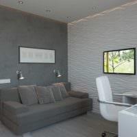 пример необычного декора квартиры 50 кв.м фото