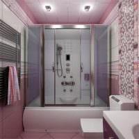 пример светлого интерьера ванной комнаты 5 кв.м картинка