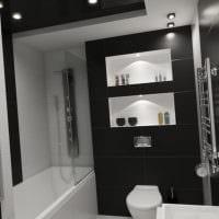 вариант яркого дизайна ванной 5 кв.м фото