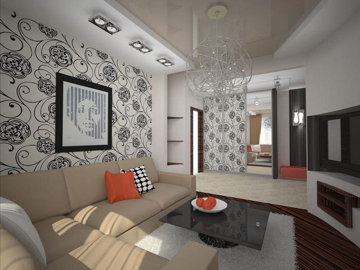 пример красивого интерьера гостиной 16 кв.м