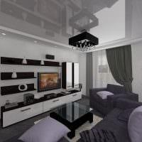 вариант красивого интерьера гостиной 16 кв.м картинка