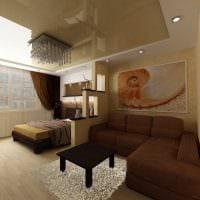 вариант светлого дизайна гостиной 19-20 кв.м картинка