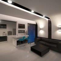 вариант красивого интерьера гостиной комнаты 25 кв.м картинка