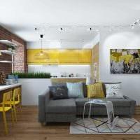 вариант необычного дизайна квартиры 65 кв.м фото