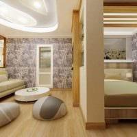 пример светлого дизайна гостиной комнаты 25 кв.м картинка
