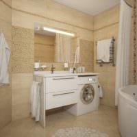 вариант необычного дизайна ванной 5 кв.м фото