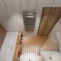 вариант красивого интерьера ванной 5 кв.м фото
