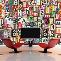 вариант применения декоративных букв в дизайне квартиры фото