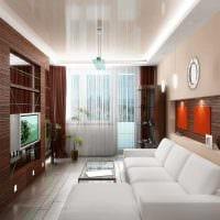 идея светлого стиля гостиной комнаты в современном стиле фото