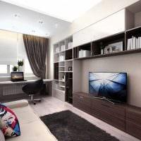 вариант необычного дизайна гостиной в стиле минимализм картинка