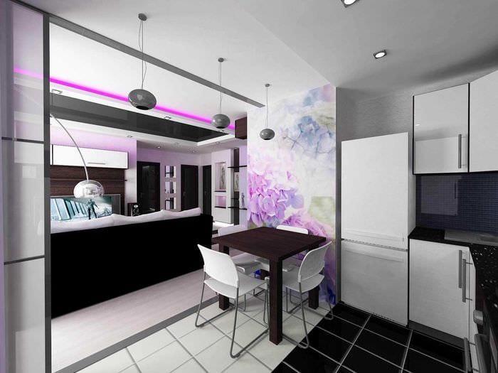 пример светлого дизайна квартиры 50 кв.м