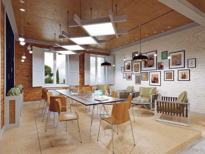 площади фото дизайн кафе в стиле лофт описывать