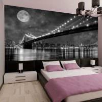 вариант яркого стиля спальни в белом цвете картинка